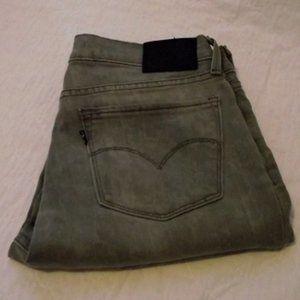 LEVIS Gray Skinny Womens Jean, Size 28